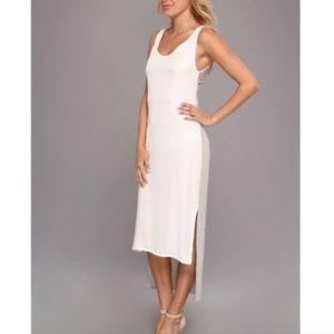 Aryn K twist back silk dress